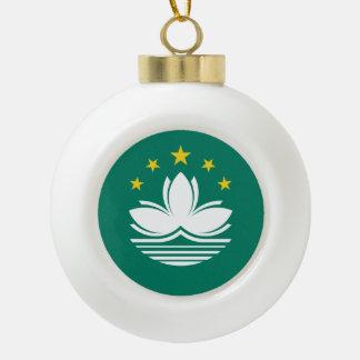 Macau Flag Ceramic Ball Christmas Ornament