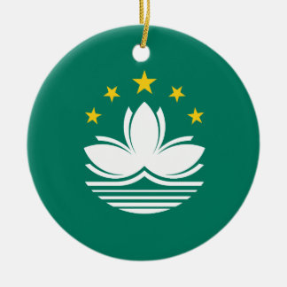 Macau Flag Ceramic Ornament