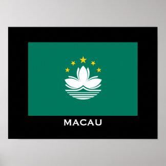 Macau Flag Classic Poster