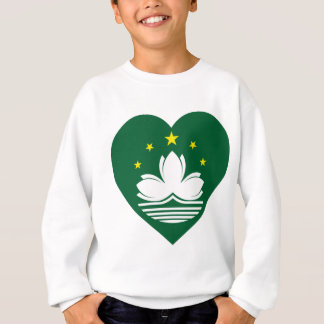 Macau Flag Heart Sweatshirt