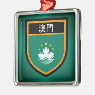 Macau Flag Metal Ornament