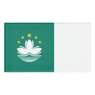 Macau Flag Name Tag