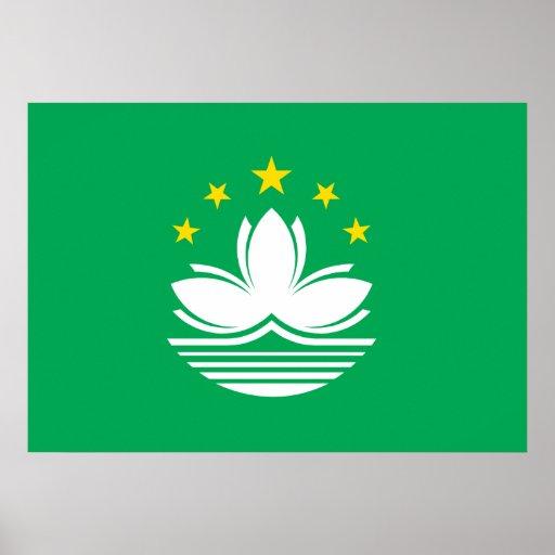 Macau Flag Posters