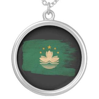 Macau Flag Round Pendant Necklace