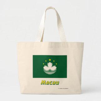 Macau Flag with Name Canvas Bag