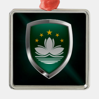 Macau Metallic Emblem Metal Ornament