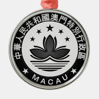 Macau Round Emblem Metal Ornament