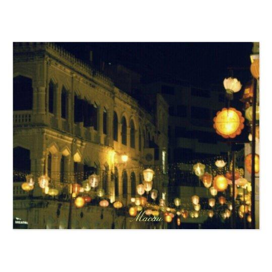 Macau Tourist destination Postcard