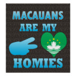 Macauanss are my Homies Poster