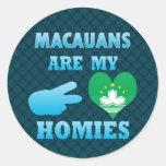 Macauanss es mi Homies Pegatinas Redondas