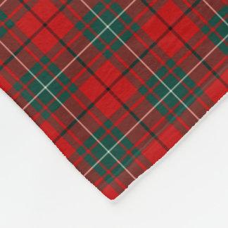 MacAulay Clan Red and Green Tartan Fleece Blanket
