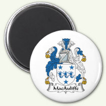 MacAuliffe Family Crest Magnet