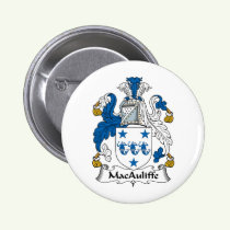 MacAuliffe Family Crest Button