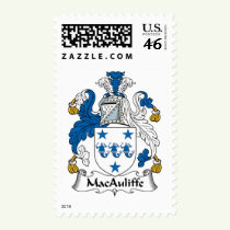 MacAuliffe Family Crest Stamps