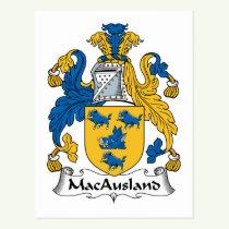 MacAusland Family Crest Postcard