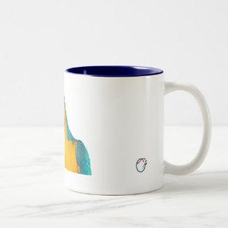 Macaw 11oz del azul y del oro tazas de café