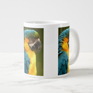 macaw, amarillo y oro taza grande