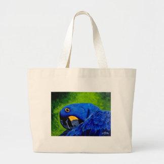Macaw azul bolsa tela grande