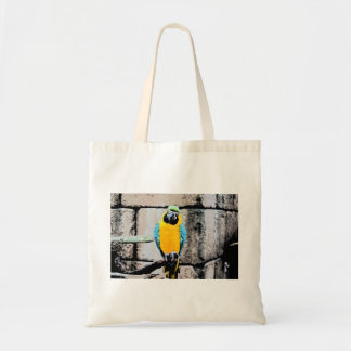 macaw azul del oro en loro del paintery de la perc bolsa de mano