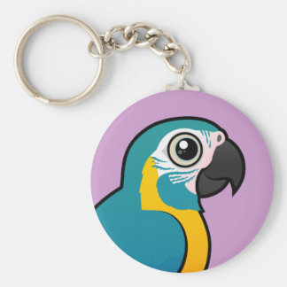 Macaw Azul-throated de Birdorable Llavero Redondo Tipo Pin