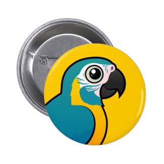 Macaw Azul-throated de Birdorable Pin Redondo De 2 Pulgadas
