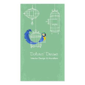 Macaw Azul-y-amarillo Tarjeta De Visita