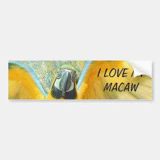 Macaw Bumper Sticker Car Bumper Sticker