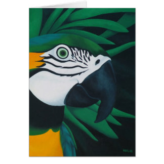 Macaw Card (Customizable)