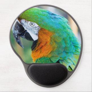 Macaw colorido alfombrilla de ratón con gel