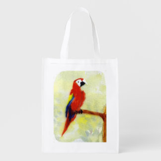 Macaw colorido del pájaro bolsas de la compra