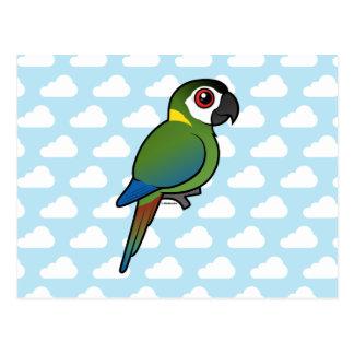Macaw De oro-agarrado Tarjeta Postal