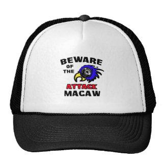 Macaw del ataque gorras de camionero