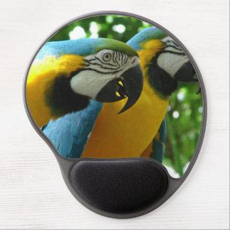 Macaw del azul y del oro alfombrilla de ratón con gel
