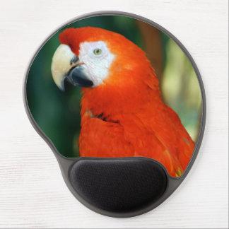 Macaw del escarlata alfombrilla gel
