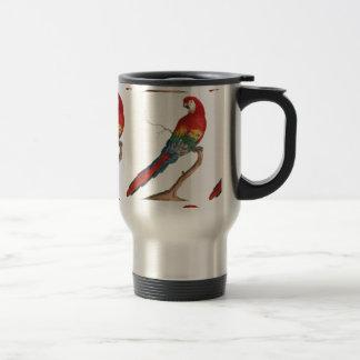 Macaw del escarlata, Ara Macao Taza De Viaje