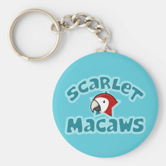 Macaw del escarlata de Kawaii Llaveros