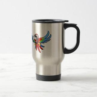 Macaw del escarlata del dibujo animado tazas de café