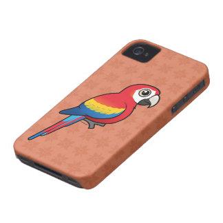 Macaw del escarlata iPhone 4 Case-Mate cárcasa