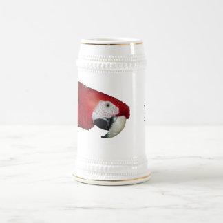 Macaw del escarlata jarra de cerveza