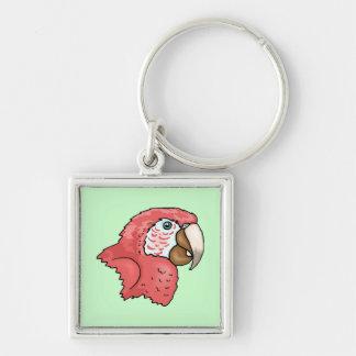 Macaw del escarlata llaveros