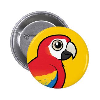 Macaw del escarlata pin