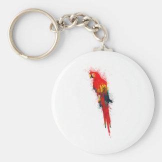 Macaw del escarlata pintado llaveros