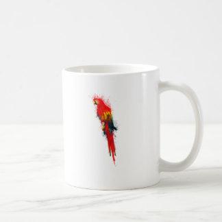 Macaw del escarlata pintado tazas