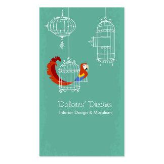 Macaw del escarlata tarjeta de negocio