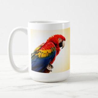 Macaw del escarlata tazas de café