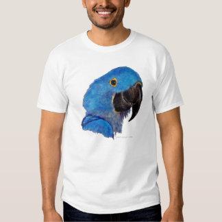 Macaw del jacinto (diseño oscuro) playera
