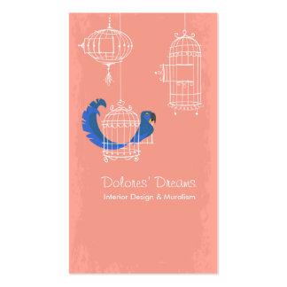 Macaw del jacinto plantilla de tarjeta de negocio
