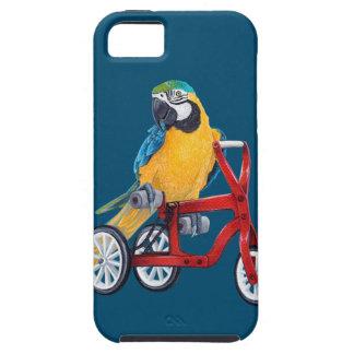 Macaw del loro en la bici del triciclo funda para iPhone SE/5/5s