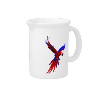Macaw del rojo de Costa Rica Jarron