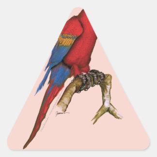 macaw del scarlett, fernandes.tif tony calcomanía triangulo personalizadas